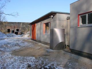 Fertig installierte Wärmepumpe