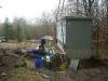 Zur Stromversorgung wird ein neuer Trafo auf dem Gelände montiert.