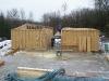 Mit dem Baumaterial Holz kommt das Projekt nun zügig voran. Von einem Tag auf den anderen ist der Fortschritt sichtbar.