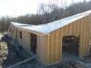 Kurz vor dem Richtfest im März 2011 ist das Dach soweit fertig.