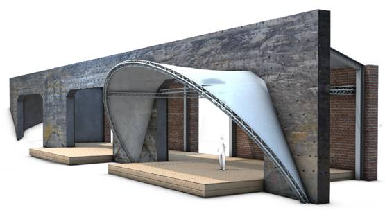 Open Air Bühne Entwurf